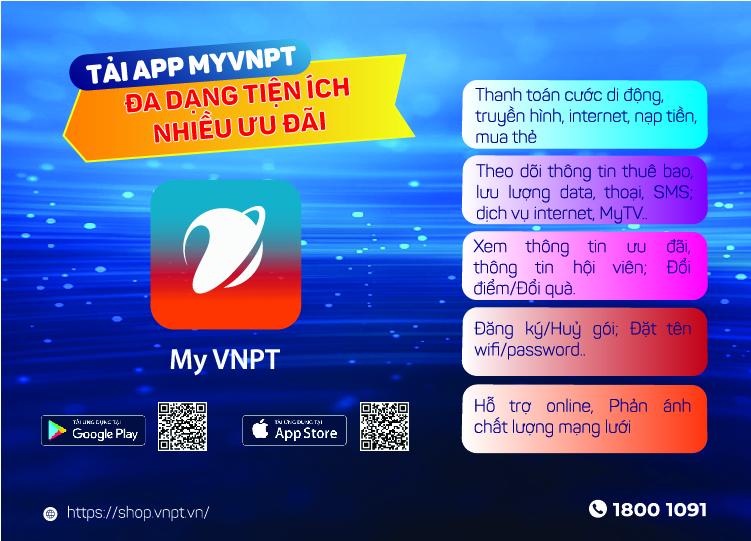 My VNPT phát huy tính tiện lợi cho khách hàng