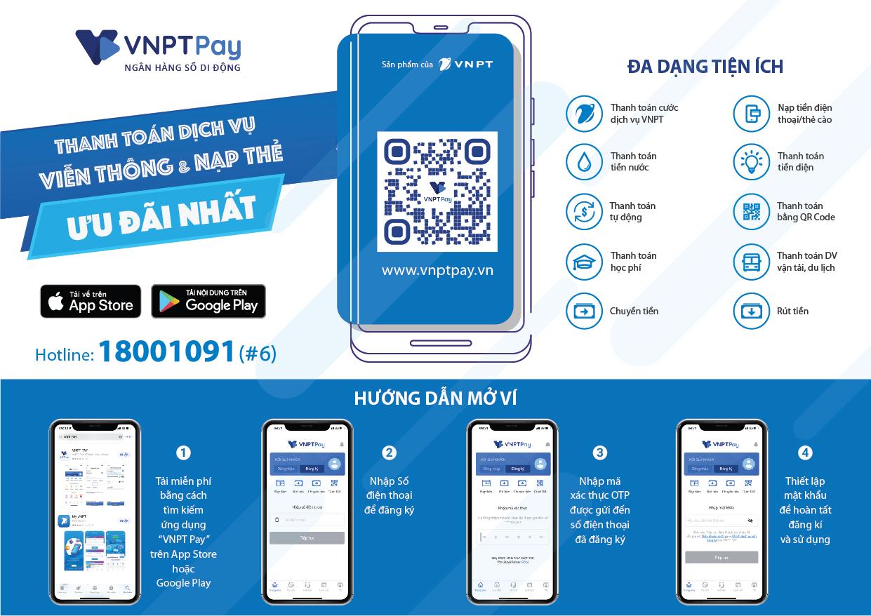 Hướng dẫn tải ứng dụng VNPT Pay và liên kết với tài khoản ngân hàng
