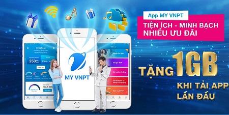 VinaPhone tặng 50 phút gọi và 1GB khi dùng app My VNPT
