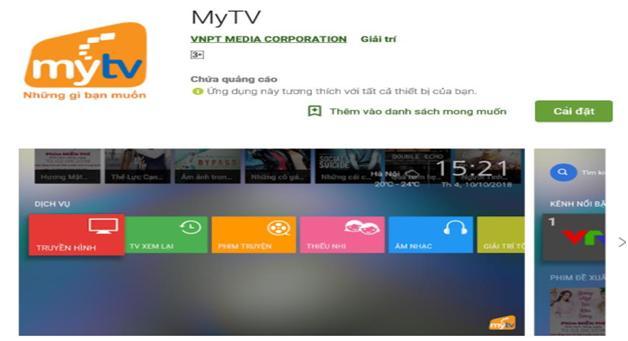 Hướng dẫn cài đặt App MyTV B2C trên Smart TV hệ điều hành Android