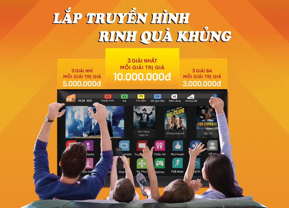 Lắp truyền hình MyTV – Rinh quà khủng từ VNPT