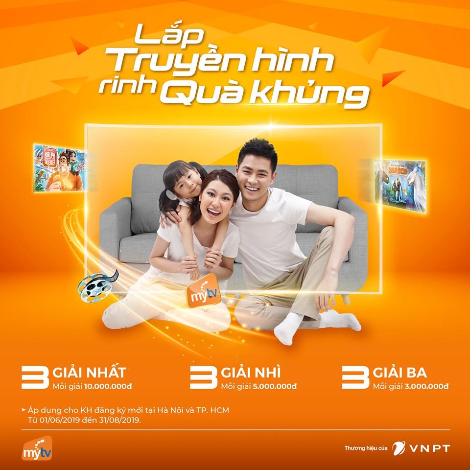 Thêm 3 khách hàng may mắn trúng thưởng khi lắp truyền hình VNPT