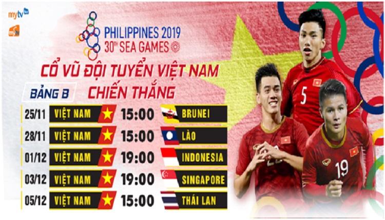 MyTV đồng hành cùng U22 Việt Nam trong hành trình trinh phục ngôi vàng tại SEA Games 30