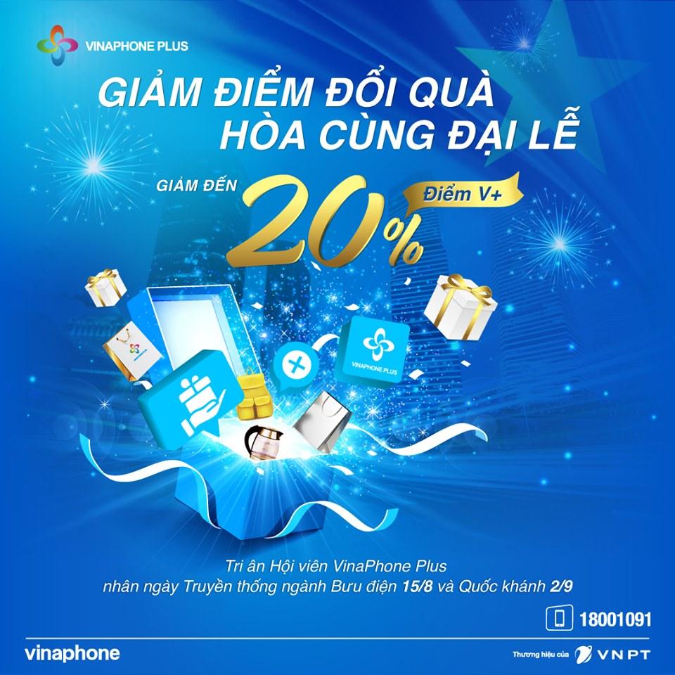 VinaPhone Plus tri ân Hội viên với kho quà giá trị nhân ngày truyền thống ngành Bưu điện và Quốc khánh 02/09