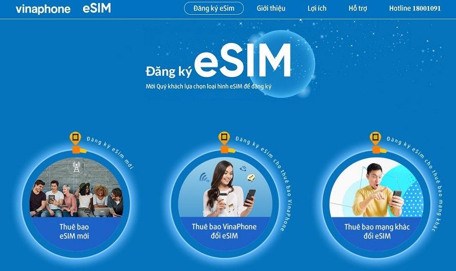 Đăng ký eSIM VinaPhone trực tuyến ở đâu?