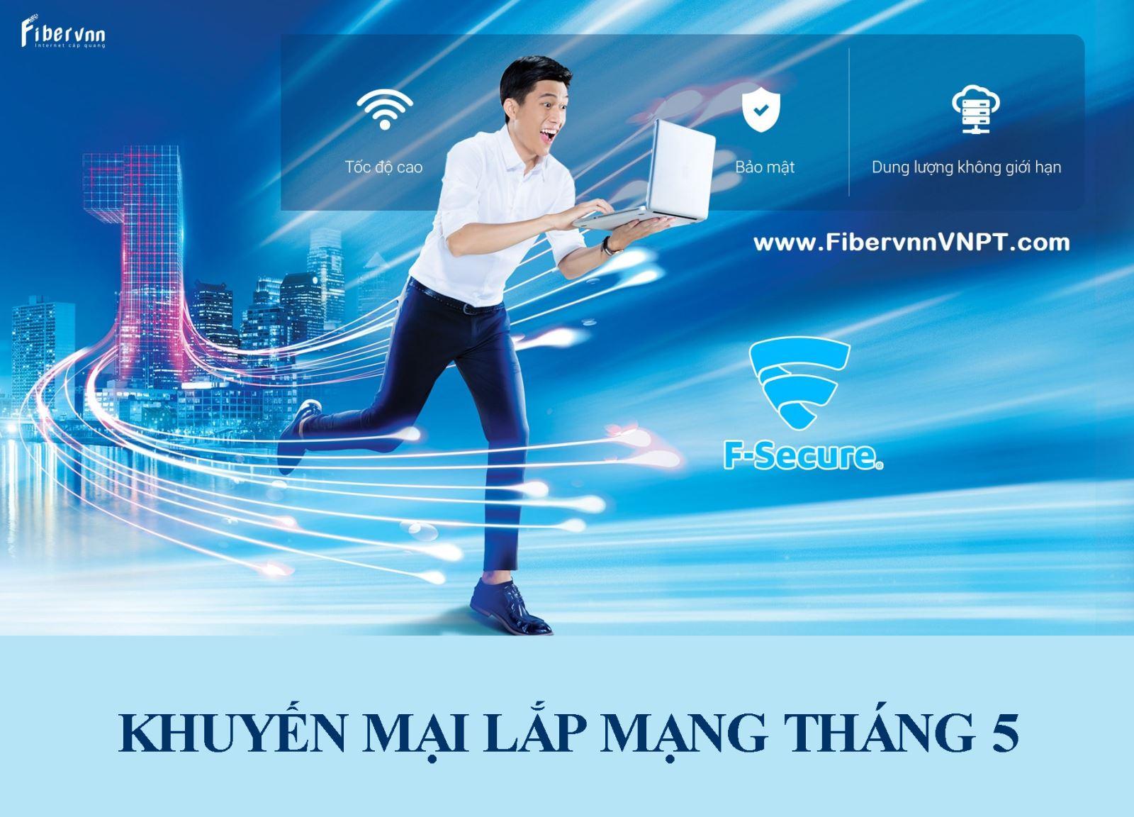 Khuyến mãi lắp mạng internet cáp quang và truyền hình VNPT tháng 5/2019