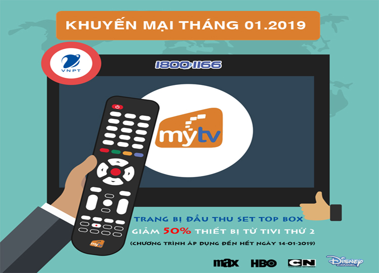 VNPT Hà Nội tặng đến 2,000,000 đồng khi đăng ký internet FiberVNN + MyTV