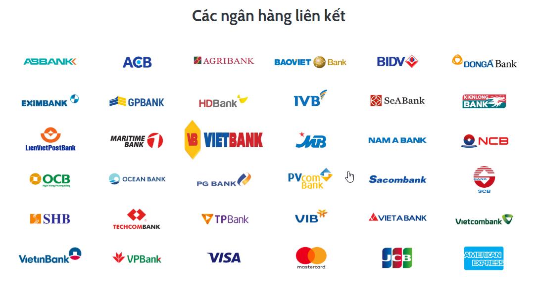 Ứng dụng VNPT PAY liên kết với những ngân hàng nào?