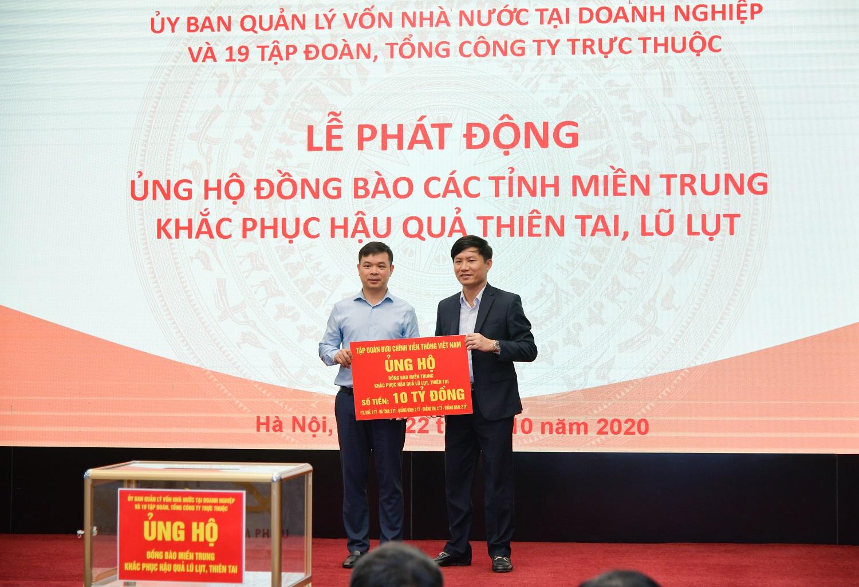 VNPT ủng hộ 10 tỷ đồng cho đồng bào miền Trung khắc phục hậu quả thiên tai