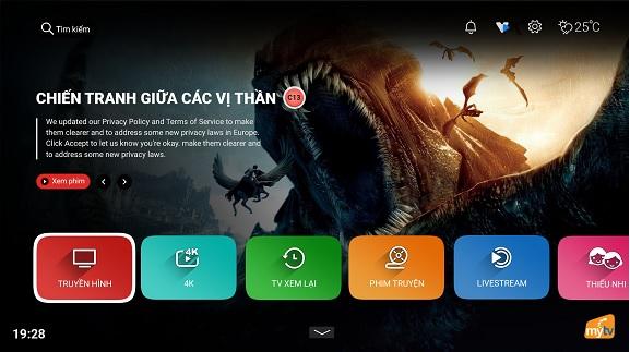 Hướng dẫn sử dụng giao diện App MyTV trên SmartTV