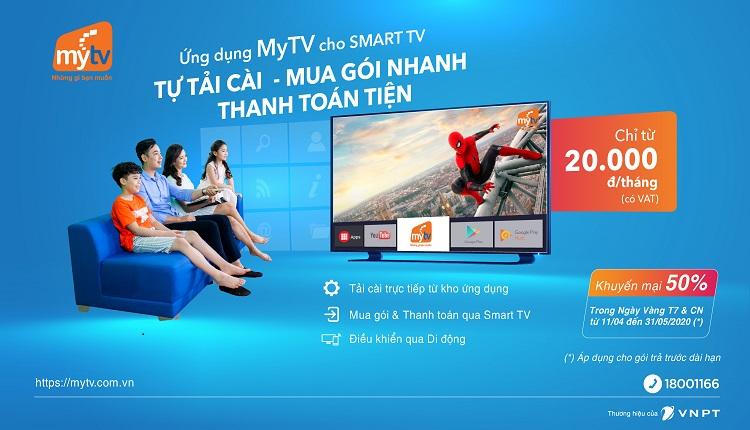 Hỗ trợ khách hàng mùa dịch, MyTV ra mắt tiện ích thanh toán trả trước trực tiếp qua ứng dụng trên Smart TV