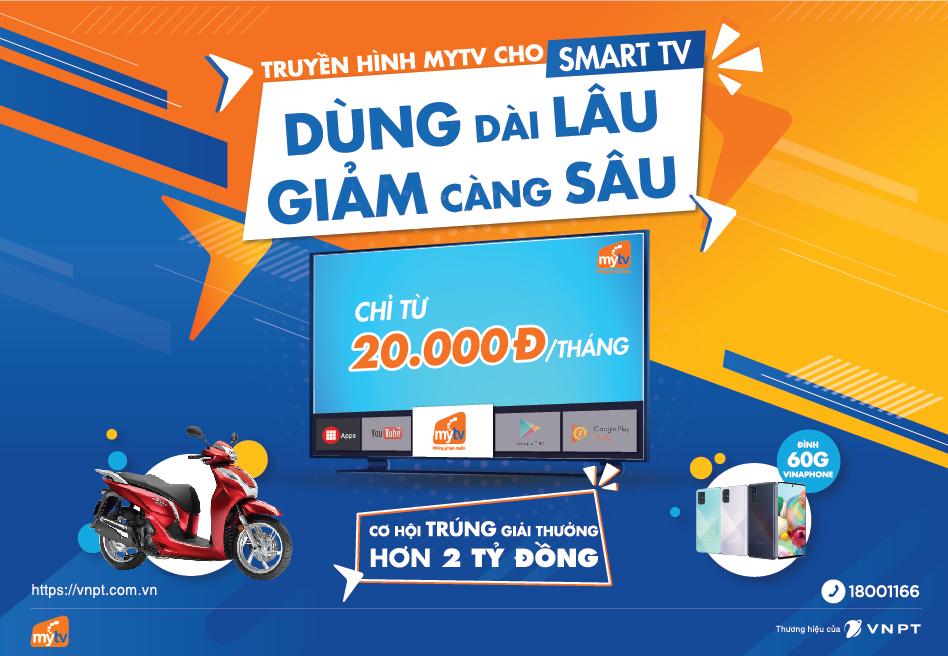 """Khuyến mại """"Dùng dài lâu - Giảm càng sâu""""Truyền hình MyTV ưu đãi 50% trong tháng 07/2020"""