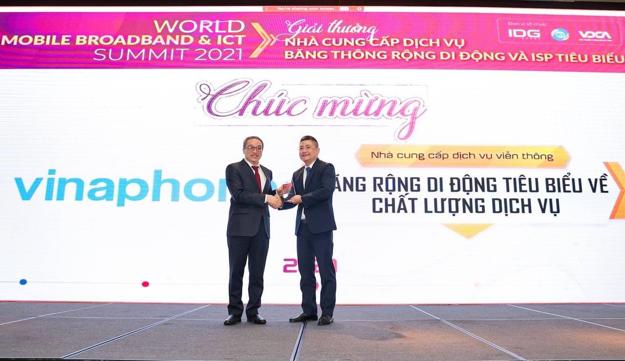 VinaPhone là đơn vị tiêu biểu về Chất lượng Dịch vụBăng thông rộng Di động tại Việt Nam