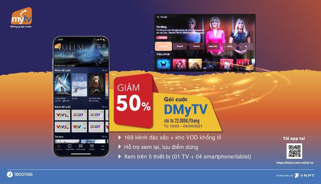 Truyền Hình MyTV OTT VNPT - Sử dụng đa nhà mạng giá cực rẻ