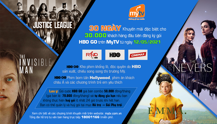 Ra mắt gói HBO GO, truyền hình MyTV tung khuyến mãi hấp dẫn cho khách hàng
