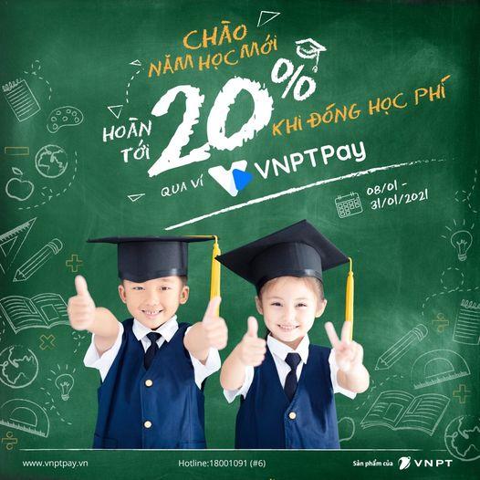 Thanh toán học phí tiết kiệm với VNPT pay