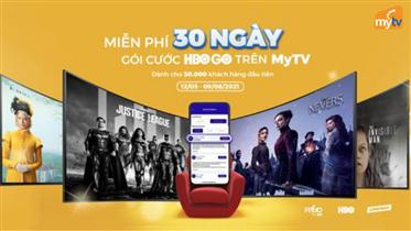 VNPT Pay: Miễn phí dùng thử 30 ngày gói HBO Go cho khách hàng MyTV
