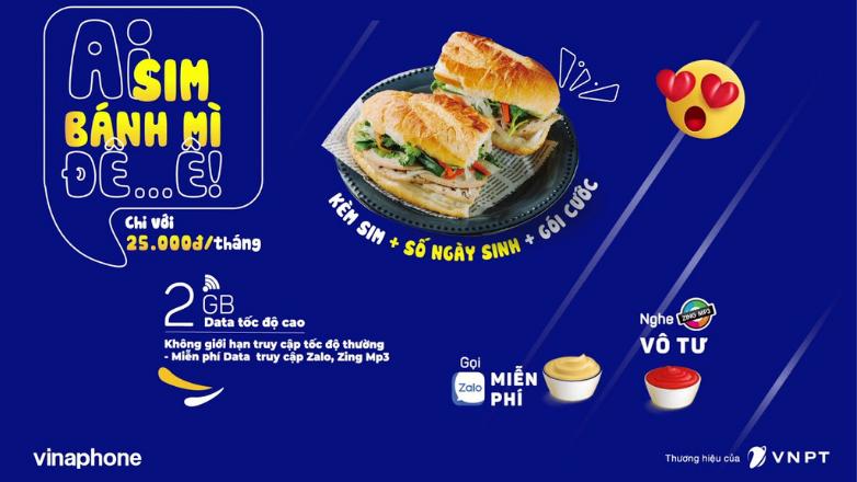 SIM Bánh mì VinaPhone - Ưu đãi khủng, giá siêu rẻ