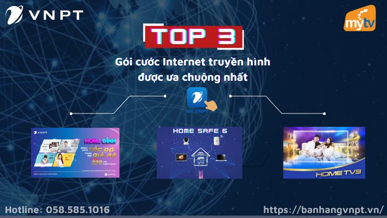 Top 3 gói cước Internet truyền hình VNPT được ưa chuộng nhất