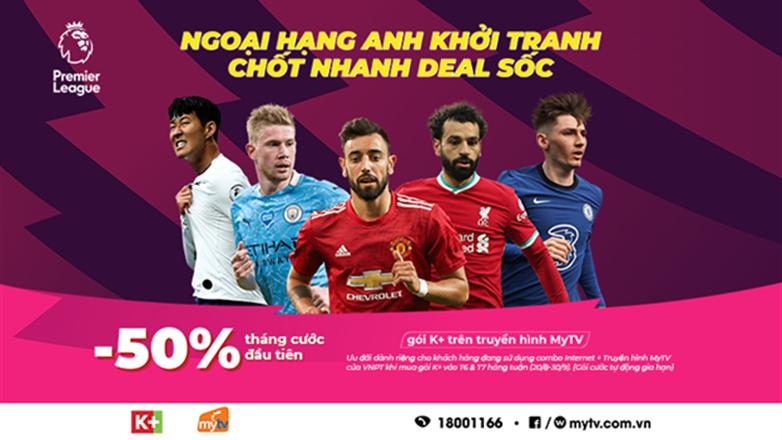 Giảm 50% giá gói K+ trên truyền hình MyTV từ ngày 20/8 đến 30/9/2021