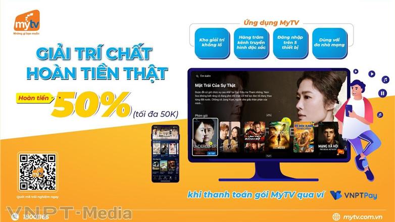 """Bộ đôi dịch vụ của VNPT tung khuyến mại hot """"Thanh toán MyTV – Nhận ngay ưu đãi"""""""